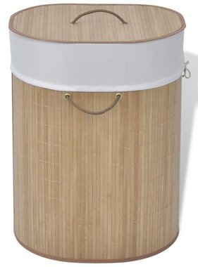 vidaXL Wasmand ovaal bamboe natuurlijk