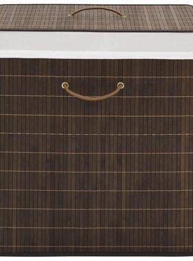 vidaXL Wasmand rechthoekig bamboe donkerbruin