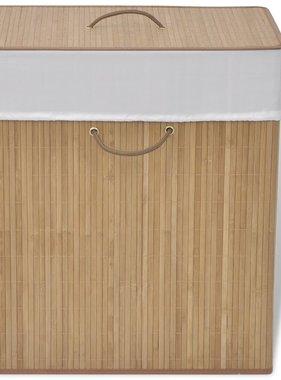 vidaXL Wasmand rechthoekig bamboe natuurlijk