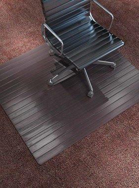 vidaXL Stoelmat/vloerbeschermende mat bamboe bruin 90x120 cm
