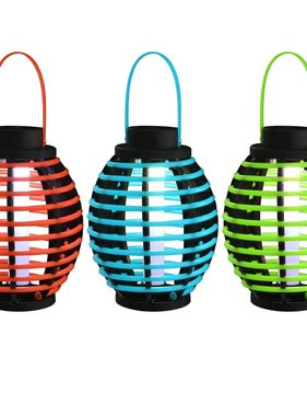 vidaXL Solarlampen hangend LED-lichten wit 3 st