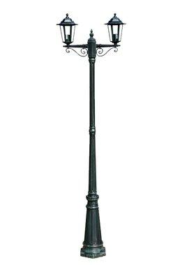 vidaXL Tuinlantaarn Preston 2-arms 215 cm donkergroen