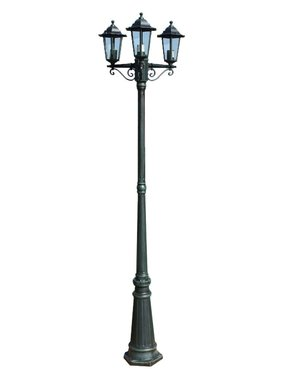vidaXL Tuinlantaarn Preston 3-arms 215 cm groen
