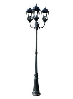 vidaXL Tuinlantaarn Brighton 3-arms 230 cm donkergroen/zwart