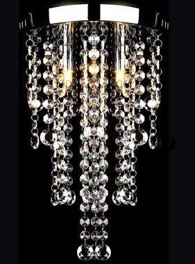 vidaXL Plafondlamp met kristallen kralen (wit / metaal)
