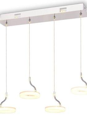 vidaXL LED-hanglamp met 4 lampen warm wit