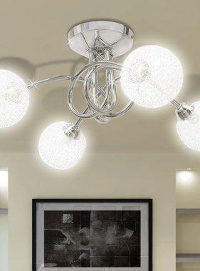 vidaXL Plafondlamp met gaasdraad kappen voor 4 x G9 peertjes