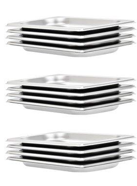 vidaXL Schalen 12 st GN 1/4 20 mm roestvrij staal