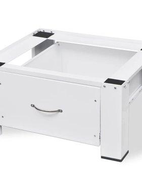 vidaXL Voetstuk voor wasmachine met lade wit