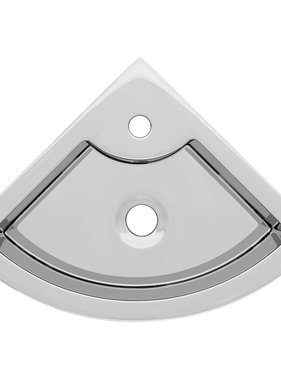 vidaXL Wastafel met overloop 45x32x12,5 cm keramiek zilverkleurig