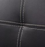 vidaXL Slaapbank modulair verstelbaar PVC zwart
