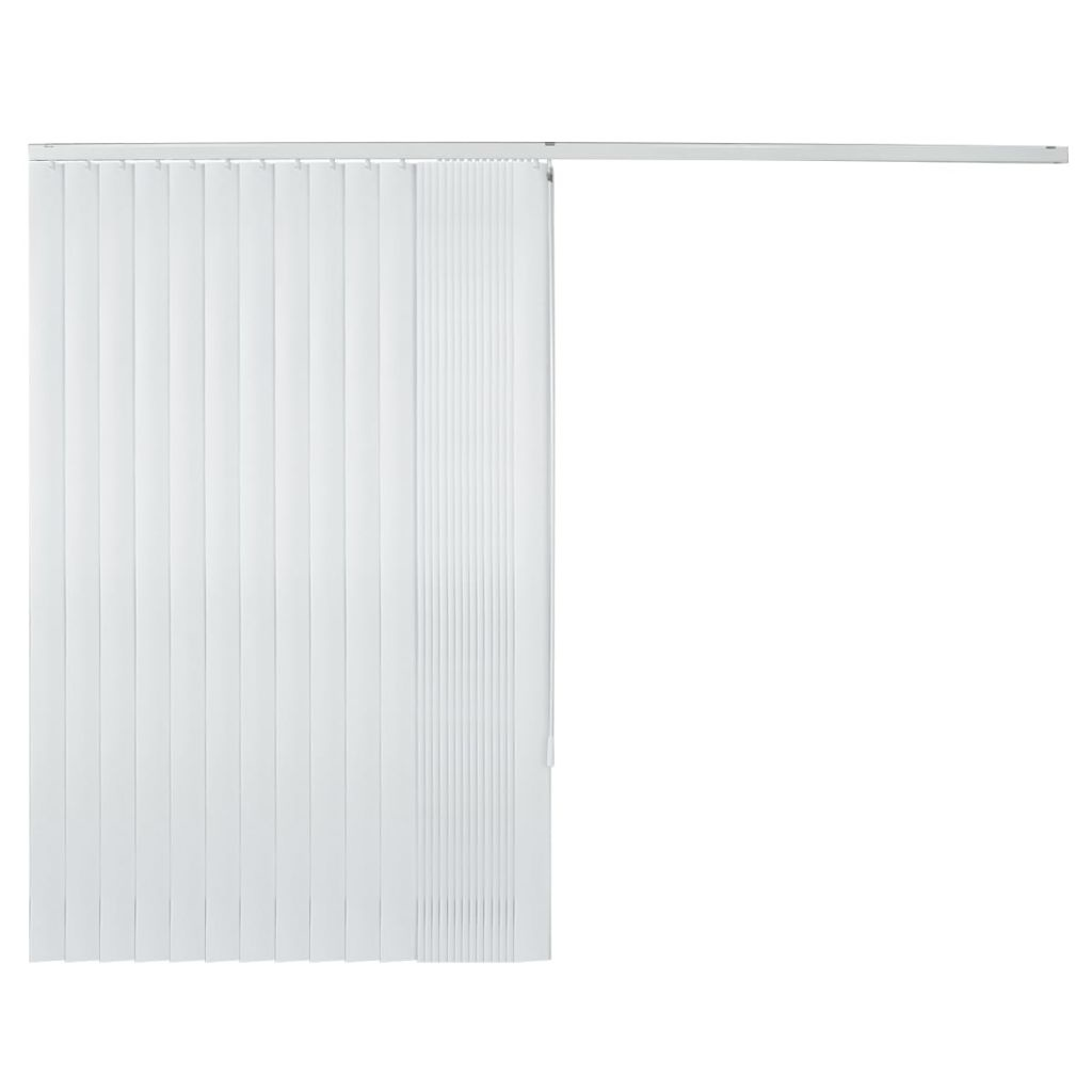 vidaXL Lamellen 150x250 cm PVC wit