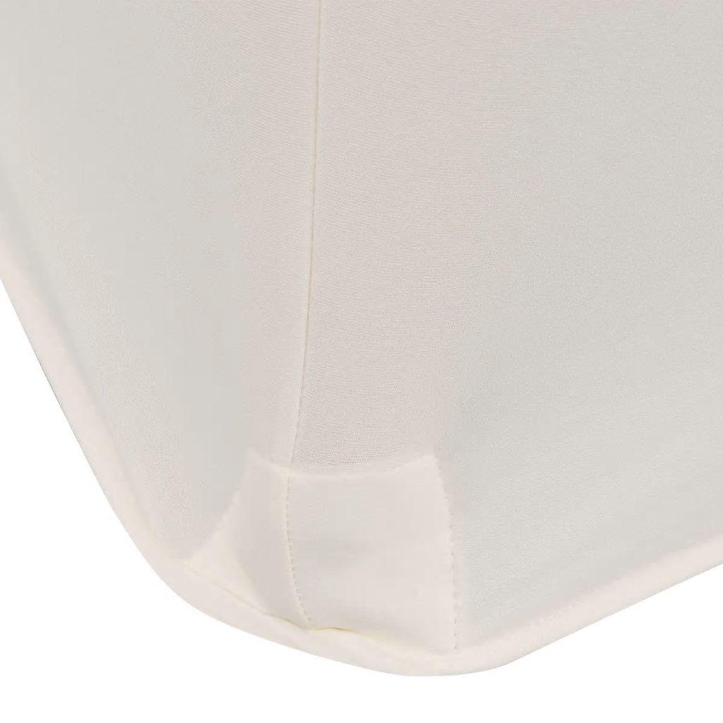 vidaXL Tafelhoes stretch rond crème 180x74cm 2 st