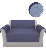 vidaXL bankbeschermhoes blauw en lichtblauw microvezel