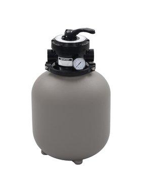 vidaXL Zwembadzandfilter met 4-positie ventiel 350 mm grijs