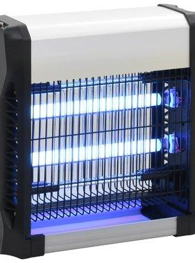 vidaXL Vliegendoder 12 W aluminium ABS zwart
