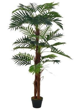 vidaXL Kunstplant met pot palm 165 cm groen