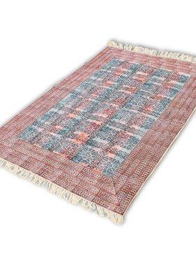 vidaXL Katoenen vloerkleed 180x120 cm rood