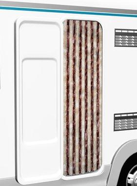 vidaXL Vliegengordijn 56x185 cm beige en lichtbruin