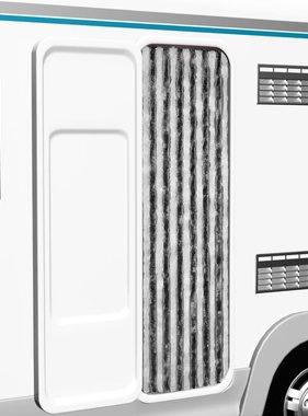 vidaXL Vliegengordijn 56x185 cm grijs en wit