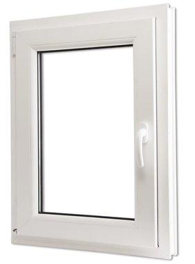 vidaXL Draaikiepraam van PVC met dubbel glas en handvat rechts 600 x 900 mm