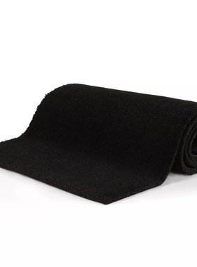 vidaXL Deurmat 24 mm 100x150 cm kokosvezel zwart