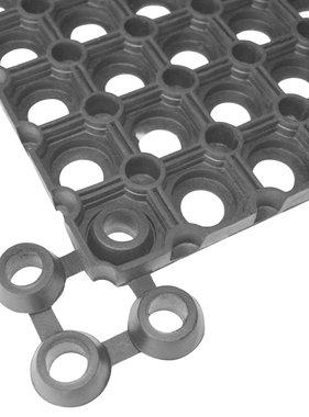 vidaXL Mat verbindingsstukken 30 stuks rubber zwart