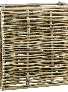 vidaXL Plantenbak verhoogd 80x40x80 cm hazelaarhout