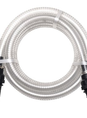 vidaXL Zuigslang met koppelingen 10 m 22 mm wit