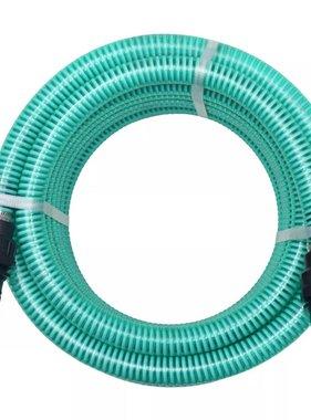 vidaXL Zuigslang met koppelingen 4 m 22 mm groen