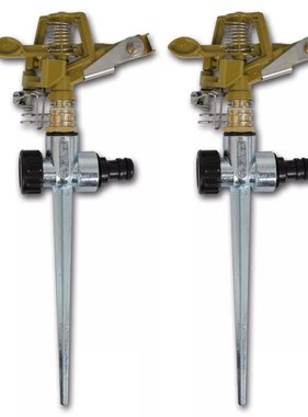 vidaXL Tuinwatersproeiers impuls met verzinkte metalen grondpin 2 st