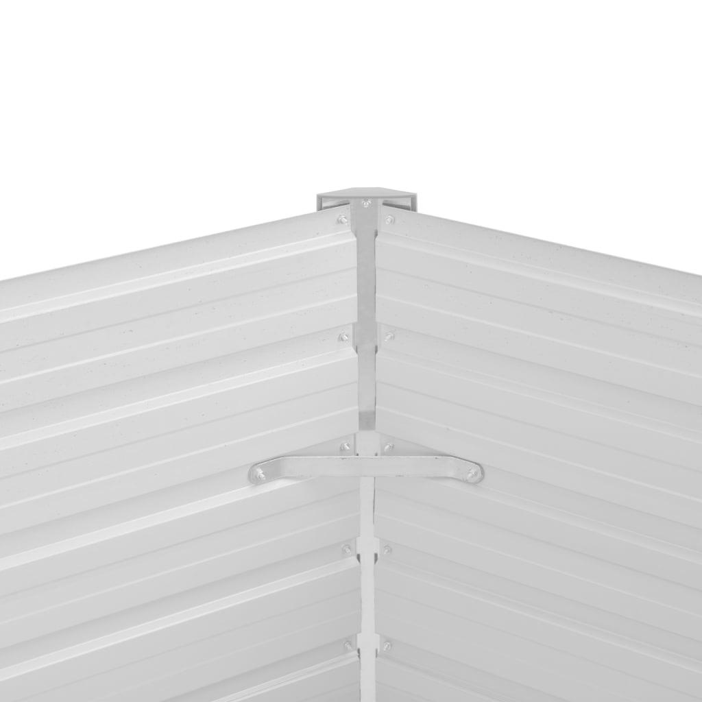 vidaXL Plantenbak 129x129x77 cm gegalvaniseerd staal bruin