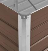 vidaXL Plantenbak 100x40x45 cm gegalvaniseerd staal bruin