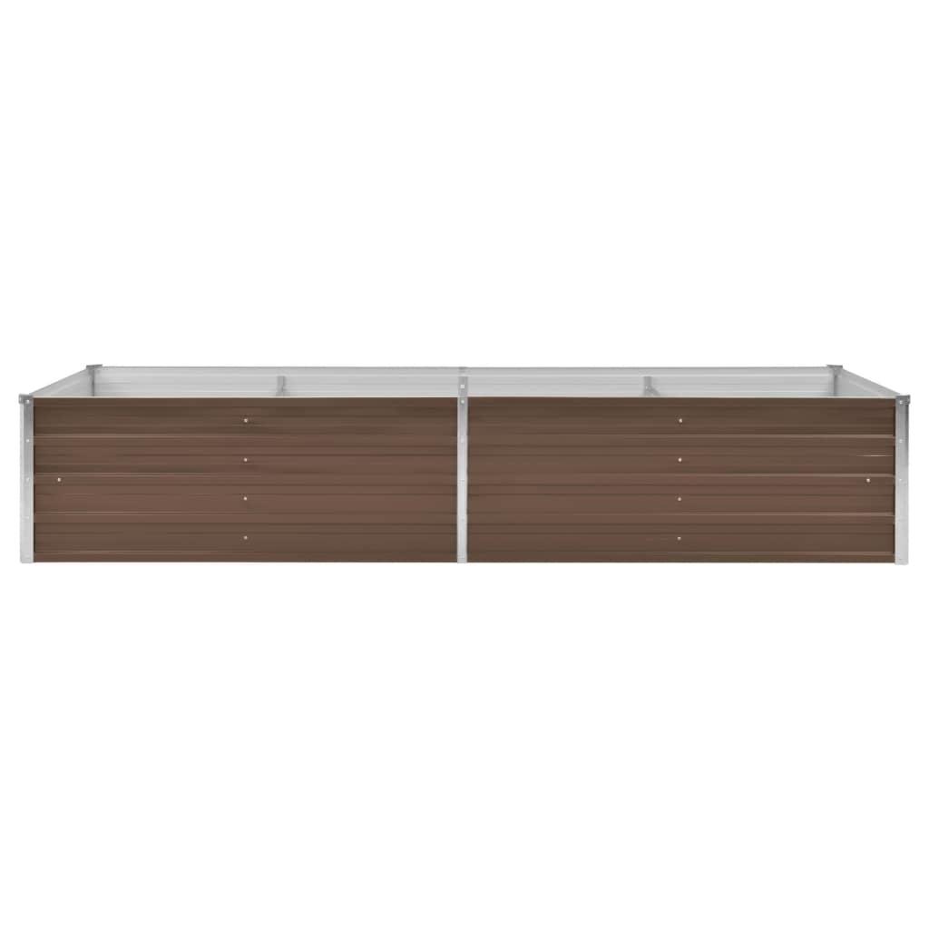 vidaXL Plantenbak 240x80x45 cm gegalvaniseerd staal bruin