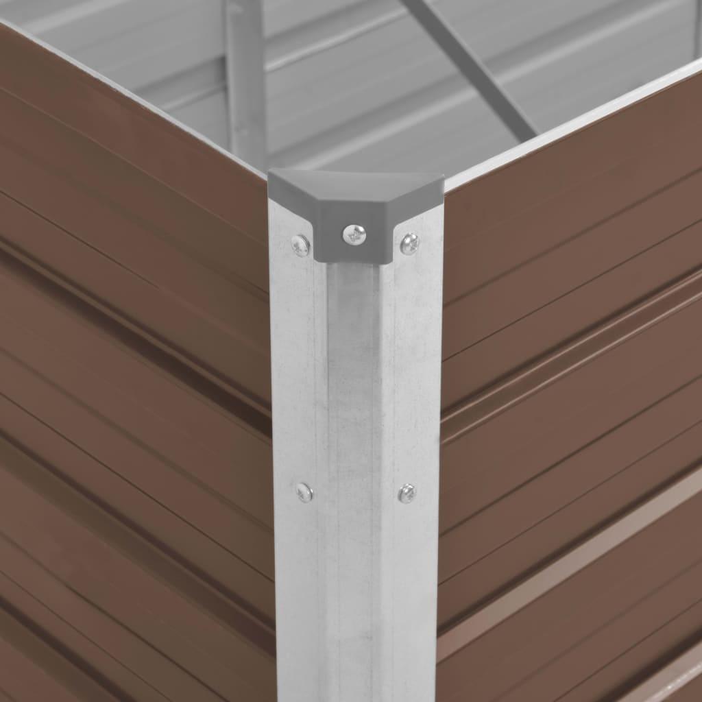 vidaXL Plantenbak 240x80x77 cm gegalvaniseerd staal bruin