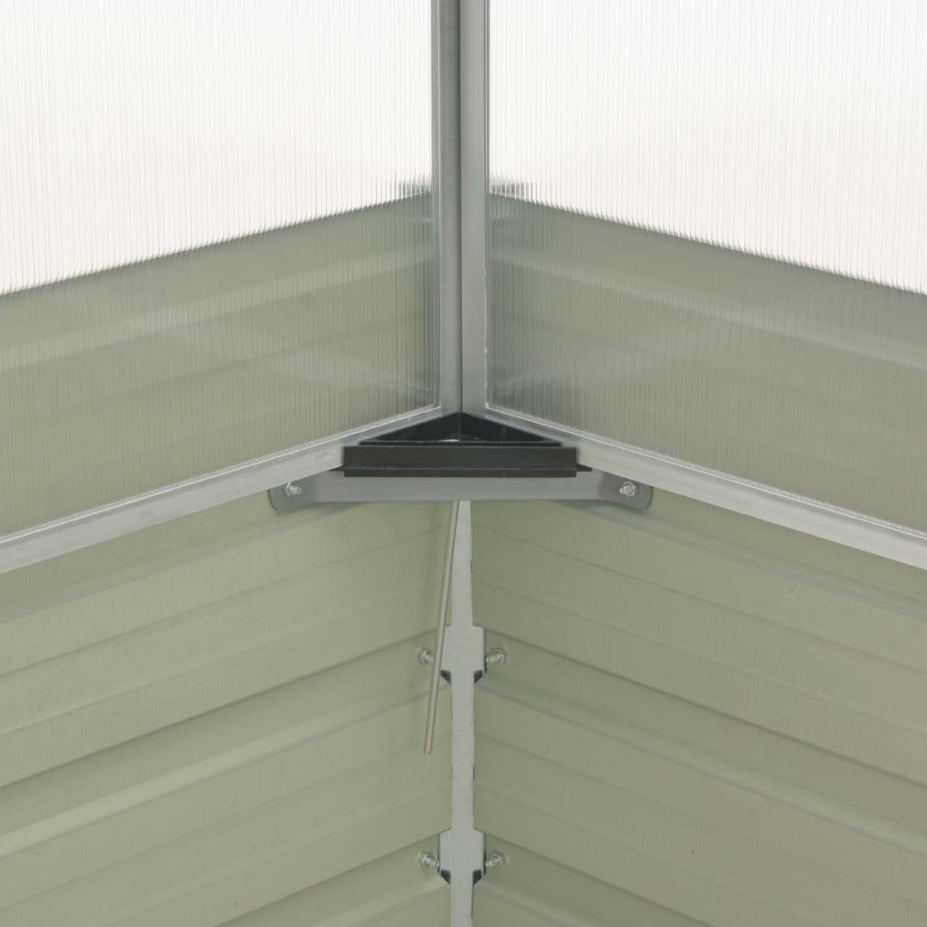 vidaXL Tuinkas 100x100x85 cm gegalvaniseerd staal bruin