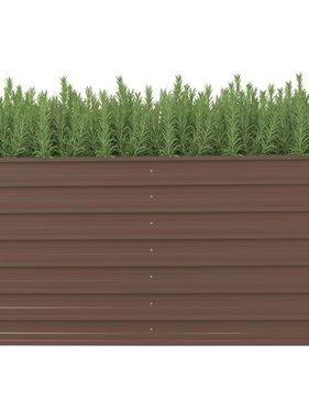 vidaXL Plantenbak verhoogd 160x80x77 cm gegalvaniseerd staal bruin