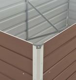 vidaXL Tuinbed verhoogd 160x80x77 cm gegalvaniseerd staal bruin