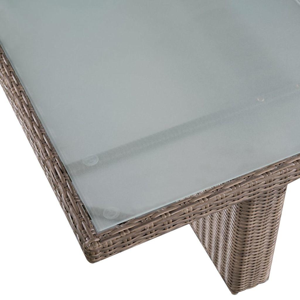 vidaXL 11-delige Tuinset met ligbedden poly rattan bruin