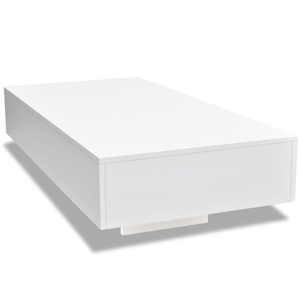 vidaXL Salontafel hoogglans wit