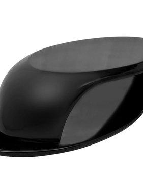 vidaXL Salontafel glasvezel hoogglans zwart