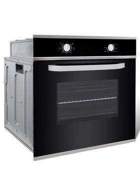 vidaXL Oven elektrisch inbouw 6 functies klasse A roestvrij staal
