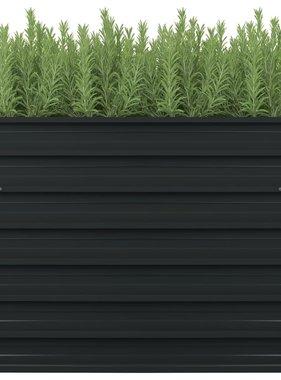 vidaXL Plantenbak verhoogd 100x100x77 cm gegalvaniseerd staal antraciet