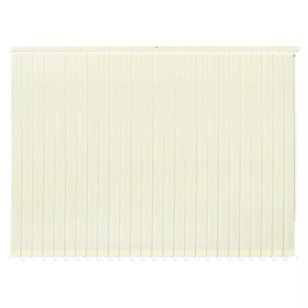 vidaXL Verticale jaloezie crème stof 150x180 cm