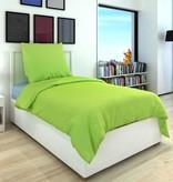 vidaXL Dekbedovertrek tweedelig katoen groen 155 x 220/60 x 70 cm