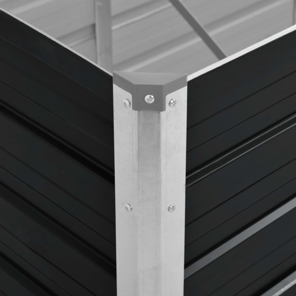vidaXL Plantenbak 320x80x77 cm gegalvaniseerd staal antraciet