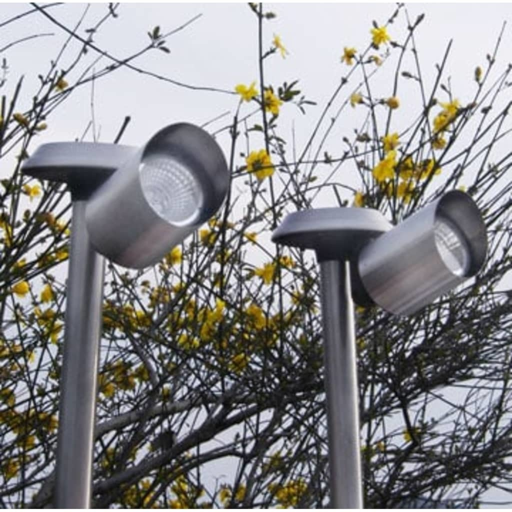 vidaXL Solar tuinverlichting RVS 35 cm (6 stuks)