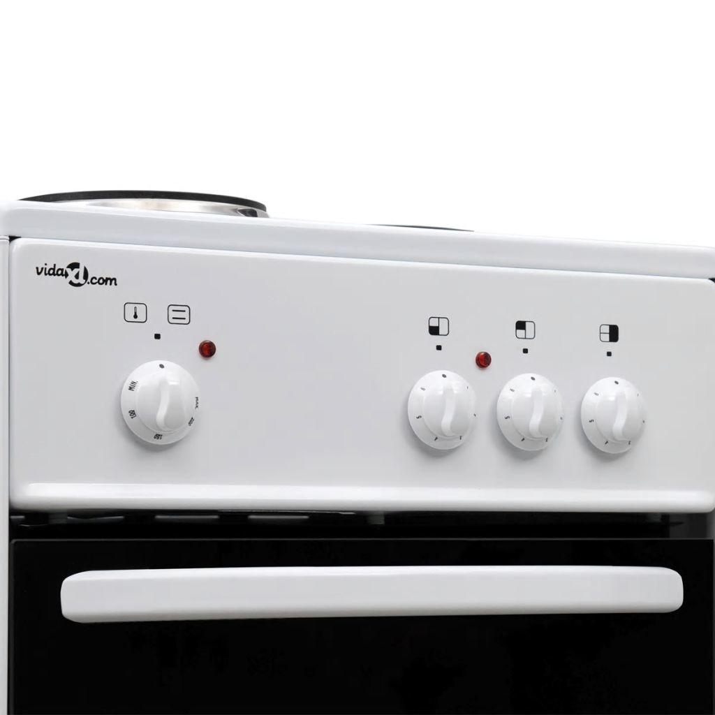 vidaXL Vrijstaande elektrische oven met 3 kookplaten 50 x 50 cm