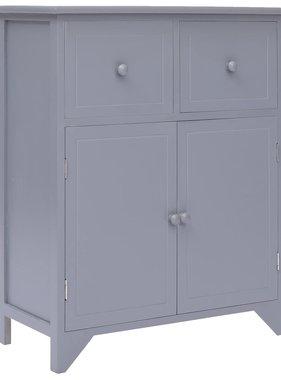 vidaXL Bijzetkast 60x30x75 cm paulowniahout grijs