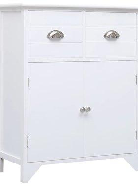 vidaXL Bijzetkast 60x30x75 cm paulowniahout wit